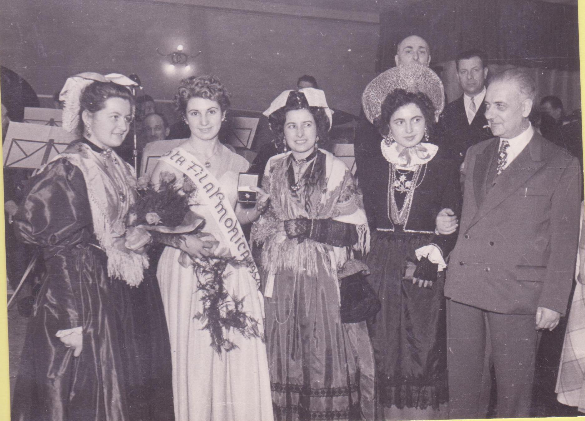 La fortunata quanto invidiata Miss Filarmonica 1954