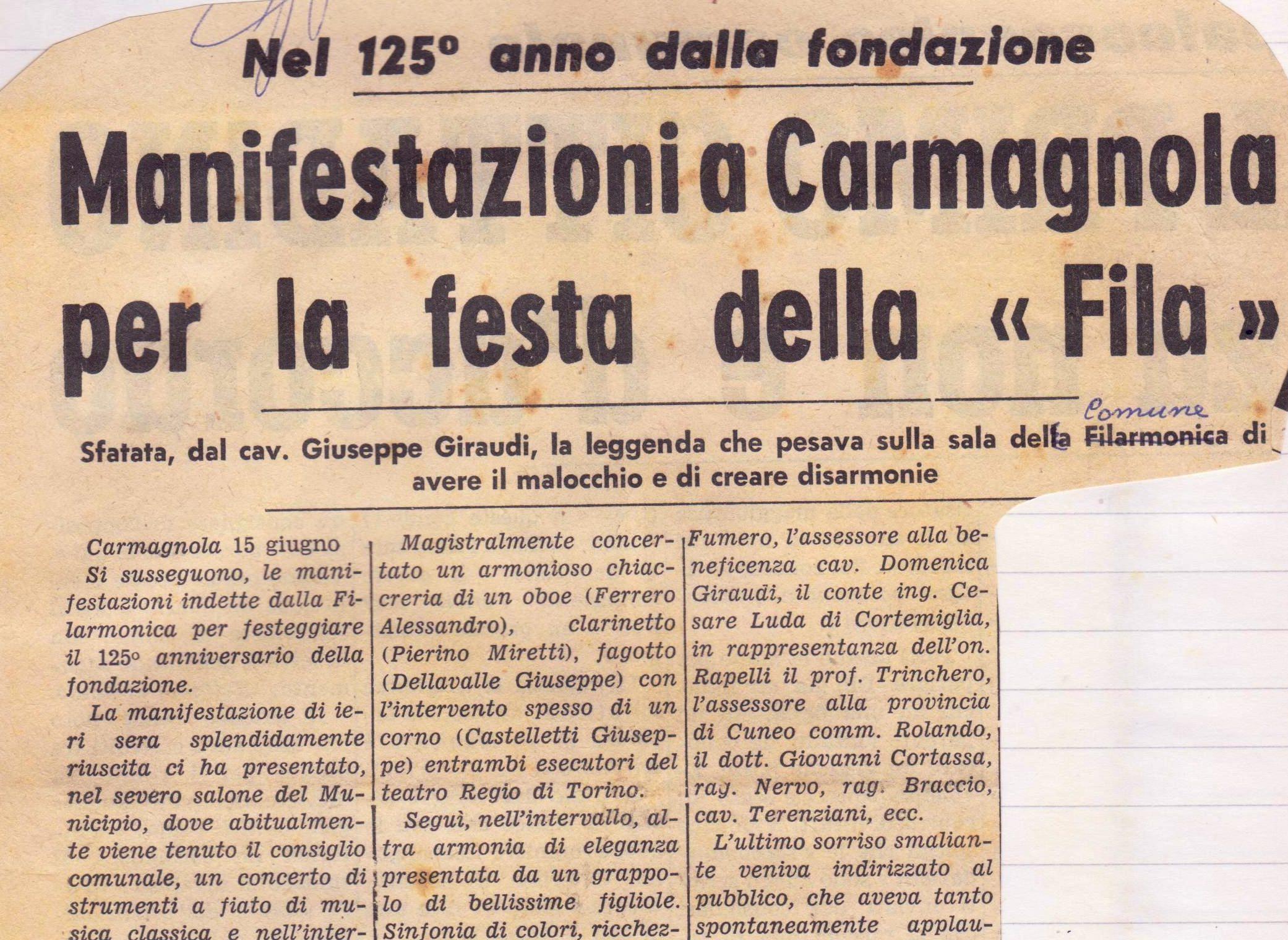 125esimo Anniversario (1962)