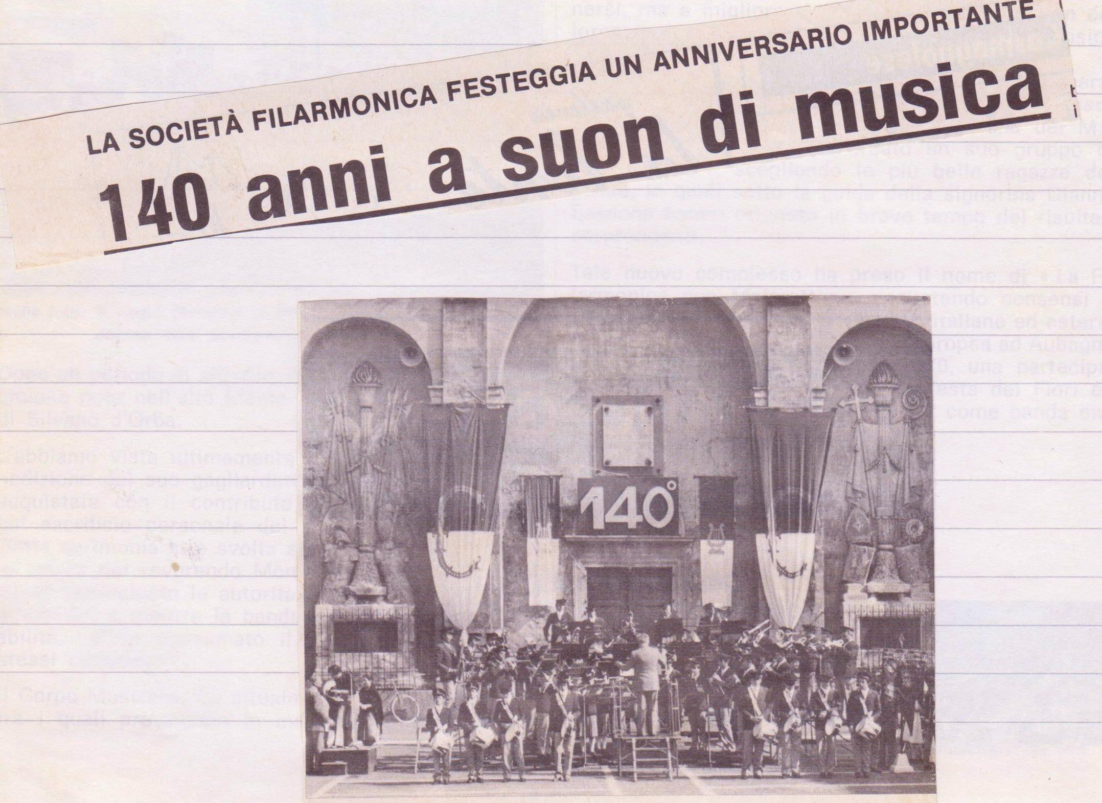 Articolo per i 140 anni (1977)
