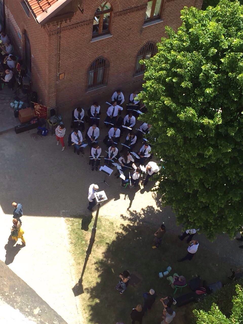 La nostra banda dall'alto della torre del Belvedere