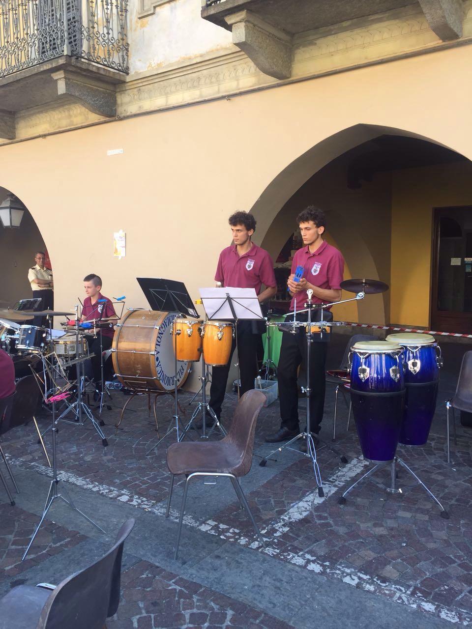 Il corpo bandistico di Villafranca Piemonte